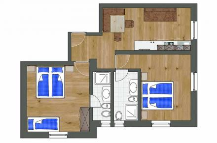 Plan Apartment Basic 2 bedrooms